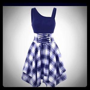 Plaid corset handkerchief dress
